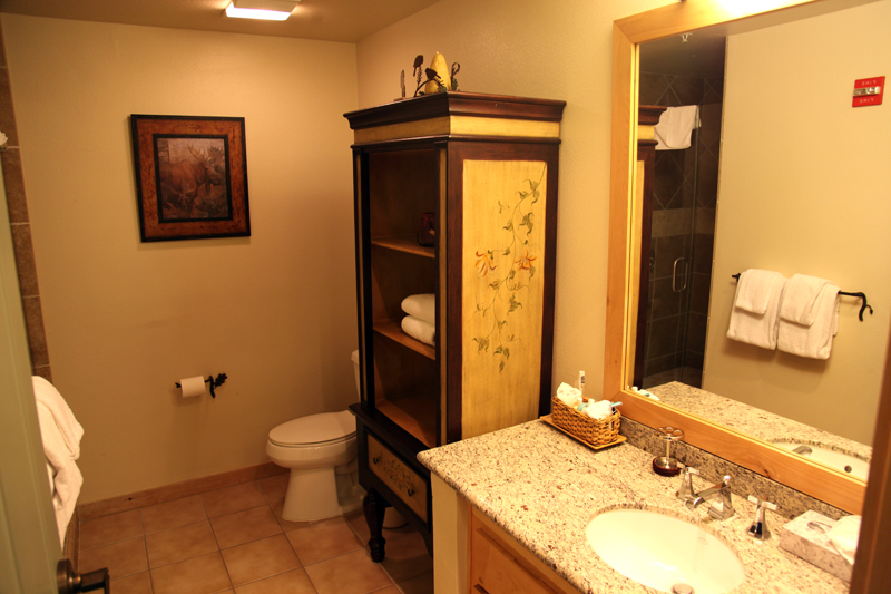 Tile and granite bathrooms
